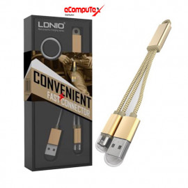 CABLE USB LIGHTNING LDNIO 2 IN 1 TYPE L89