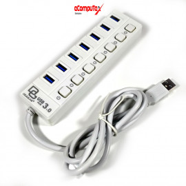 USB HUB 3.0 (5 GBPS) DIGIGEAR 7 PORT ON/OFF