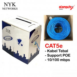 CABLE UTP LAN ROLL BLUE NYK CAT 5 (HQ)