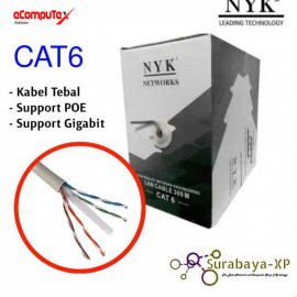 CABLE UTP LAN ROLL BLUE NYK CAT 6 (HQ)