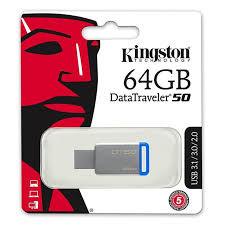 FLASHDISK KINGSTON DT50 64GB Support USB2.0 USB3.0