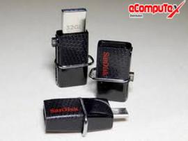 FLASHDISK OTG SANDISK 64 GB DD2 ORIGINAL USB FLASH SANDISK DUAL DRIVE