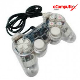 GAMEPAD GETAR TRANSPARAN LAMPU SINGLE