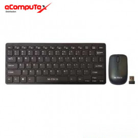 KEYBOARD MINI MULTIMEDIA + MOUSE WIRELESS M-TECH