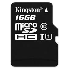 MICRO SD KINGSTON CANVAS 16GB CLASS 10
