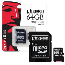MICRO SD KINGSTON CANVAS 64GB CLASS 10