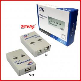 USB DATA SWITCH AUTO 1 TO 2 NYK USB PRINTER