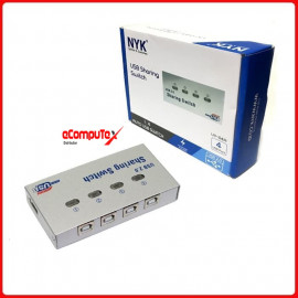 USB DATA SWITCH AUTO 1 TO 4 NYK USB PRINTER